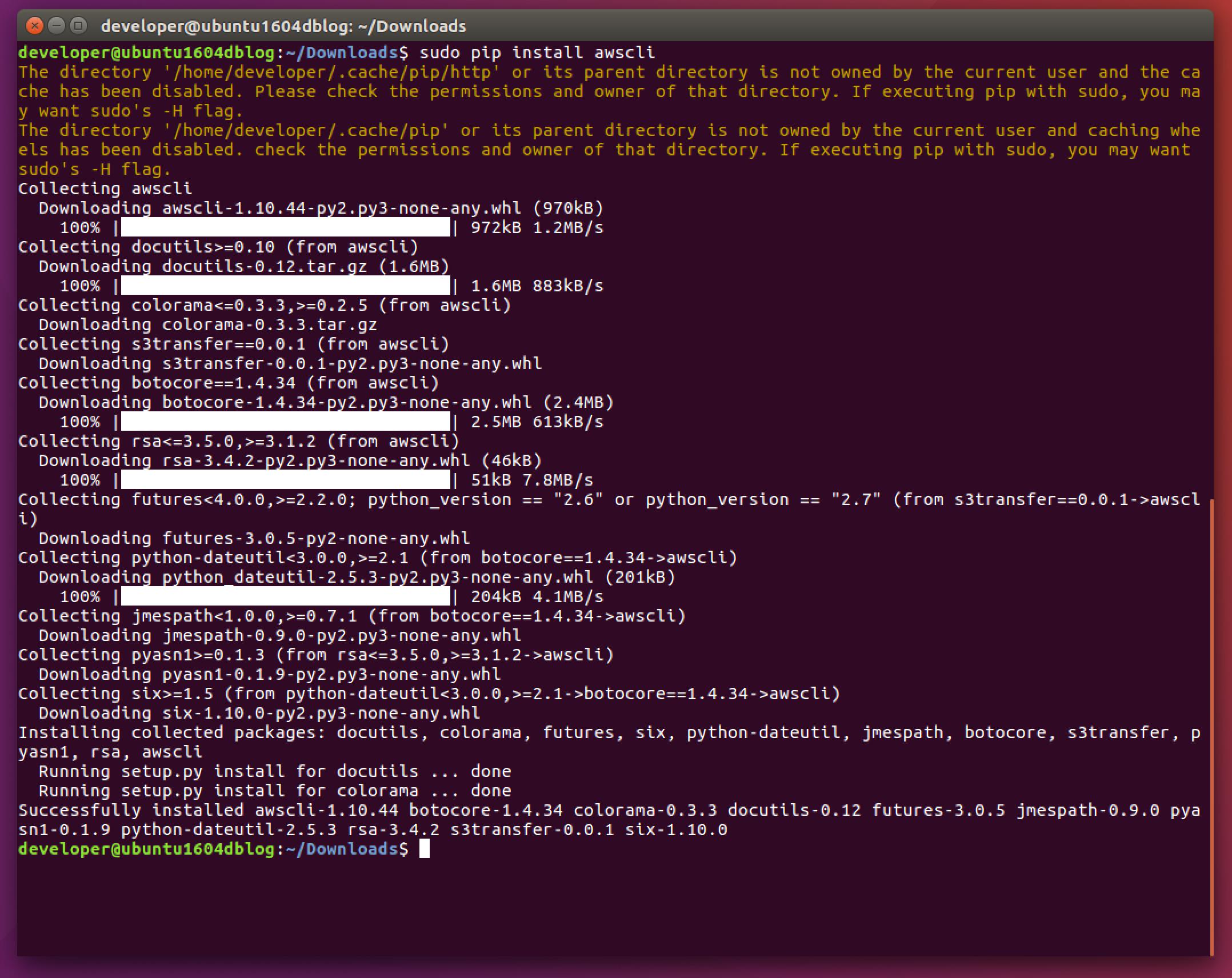 Installing And Configuring AWS CLI on Ubuntu Desktop – Dmitry Zinchenko
